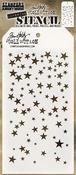 """Falling Stars - Tim Holtz Layered Stencil 4.125""""X8.5"""""""