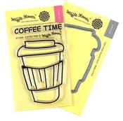 Coffee Time Waffle Flower Stamp & Die Set