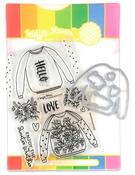 Sweater Weather Waffle Flower Stamp & Die Set - PRE ORDER