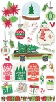 Cottage Christmas Chipboard Stickers - Fancy Pants