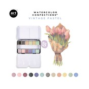 Watercolor Confections - Vintage Pastel - Prima