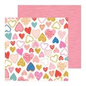 Heartbeat Paper - La La Love - Crate Paper