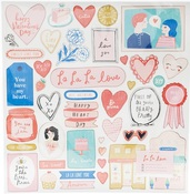 La La Love Chipboard Stickers - Crate Paper