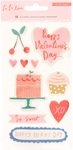 La La Love Embossed Puffy Stickers - Crate Paper