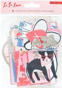 La La Love Silver Glittered Ephemera - Crate Paper