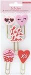 La La Love Rubber Paper Clips - Crate Paper