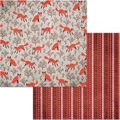 Foxes Paper - Winter Getaway - Bo Bunny