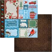 Retreat Paper - Winter Getaway - Bo Bunny