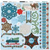 Winter Getaway Combo Stickers - Bo Bunny