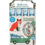 Winter Getaway Layered Chipboard - Bo Bunny - PRE ORDER