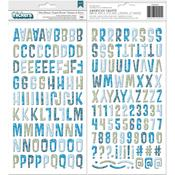 Winter Getaway Chipboard Alpha Thickers - Bo Bunny - PRE ORDER