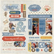 Quest Accent Die-cut Sheet - Authentique