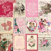 "Cut-Apart 3""X4"" Card Paper - Romance - Authentique"