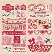 Romance Element Die Cut Sheet - Authentique