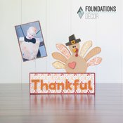 Turkey Complete Set Picture Holder - Foundations Decor