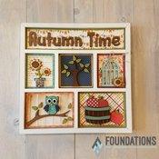 Autumn Time Shadow Box Insert Kit - Foundations Decor