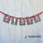 Santa Banner - Foundations Decor
