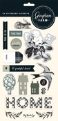 Gingham Farms Chipboard Shapes - My Minds Eye - PRE ORDER