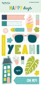 Happy Days Chipboard Stickers - My Minds Eye - PRE ORDER