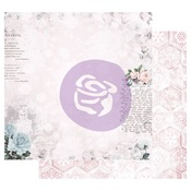 Waiting For The One Foiled Paper - Poetic Rose - Prima - PRE ORDER