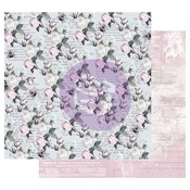 Buzz Words Foiled Paper - Poetic Rose - Prima - PRE ORDER