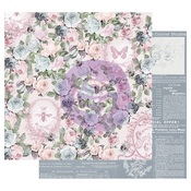 Royal Command Foiled Paper - Poetic Rose - Prima - PRE ORDER