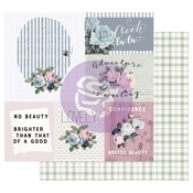 Mixed Feelings Foiled Paper - Poetic Rose - Prima - PRE ORDER