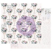 Sweet Taste Foiled Paper - Poetic Rose - Prima