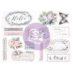 Poetic Rose Chipboard - Prima