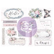 Poetic Rose Chipboard - Prima - PRE ORDER