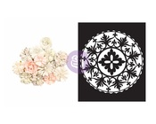 Love Composition Flowers & Stencil - Poetic Rose - Prima