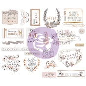 Pretty Pale Chipboard - Prima - PRE ORDER
