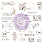 Pretty Pale Ephemera & Stickers - Prima