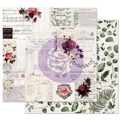 Rose Receipts Paper - Midnight Garden - Prima