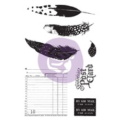 Midnight Garden Cling Stamp & Stencil Set - Prima