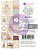 Spring Farmhouse 3 x 4 Journaling Cards Pad - Prima - PRE ORDER