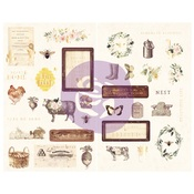 Spring Farmhouse Chipboard - Prima