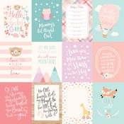 3 X 4 Journaling Card Paper - Hello Baby Girl - Echo Park