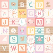 Girl Alphabet Blocks Paper - Hello Baby Girl - Echo Park