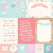 4 X 6 Journaling Card Paper - Hello Baby Girl - Echo Park