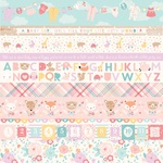 Border Strips Paper - Hello Baby Girl - Echo Park