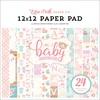 Hello Baby Girl 12 x 12 Paper Pad - Echo Park