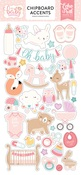 Hello Baby Girl Chipboard Accents - Echo Park