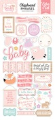 Hello Baby Girl Chipboard Phrases - Echo Park
