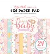 Hello Baby Girl 6 x 6 Paper Pad - Echo Park
