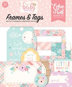 Hello Baby Girl Frames & Tags - Echo Park
