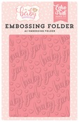 Embossing Folder Baby Girl - Echo Park