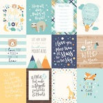 3 X 4 Journaling Card Paper - Hello Baby Boy - Echo Park