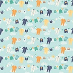 Boy Clothesline Paper - Hello Baby Boy - Echo Park