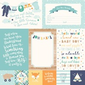 4 X 6 Journaling Card Paper - Hello Baby Boy - Echo Park